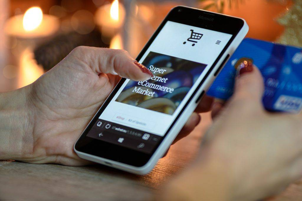 image of a mobile shopping app